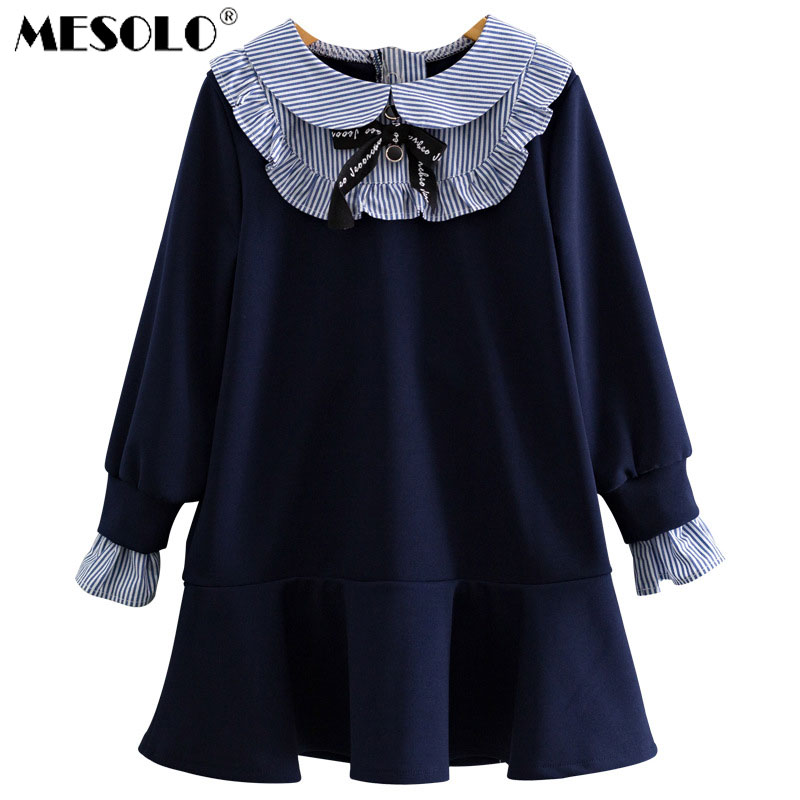 Mesolo 여자 드레스 2018 가을 의상 falbala 공주 드레스 여성 기질 보물 g3002 fishtail 새로운 기금의