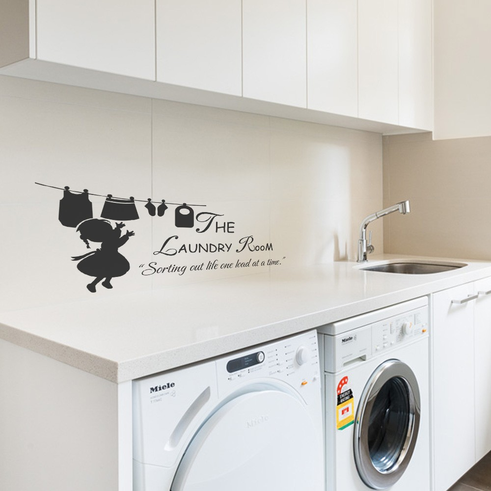 Home Decor Items Laundry Room Sorting Out Life One Load At A Time Wall Quote Decal Vinyl Decor Home Furniture Diy Coccinelli De