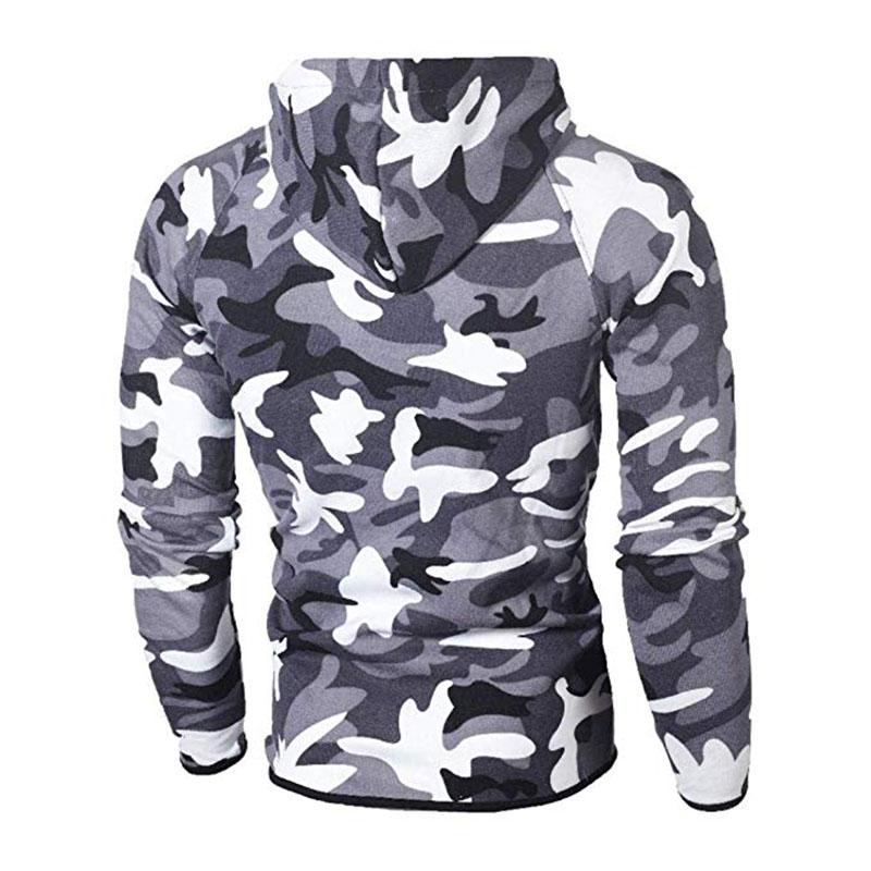 Men\`s Autumn Winter Snowboarding Camouflage Top Pants Slim Sports Suit Tracksuit Hoodies Camo Suit Long Sleeves Sweatshirt (8)