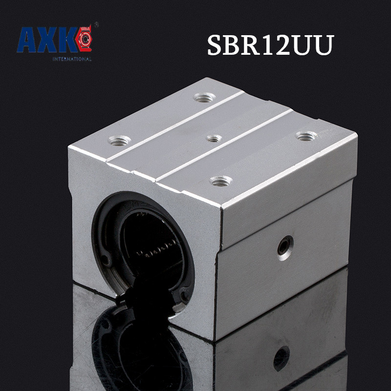 Axk 4pcs/lot Sbr12uu /sme12uu Sbr12 Uu 12mm Shaft Linear Ball Bearing Block Sbr For Cnc Router Mill Machine Diy mr p顽皮猴减负可爱幼儿园书包双肩包男女童书包