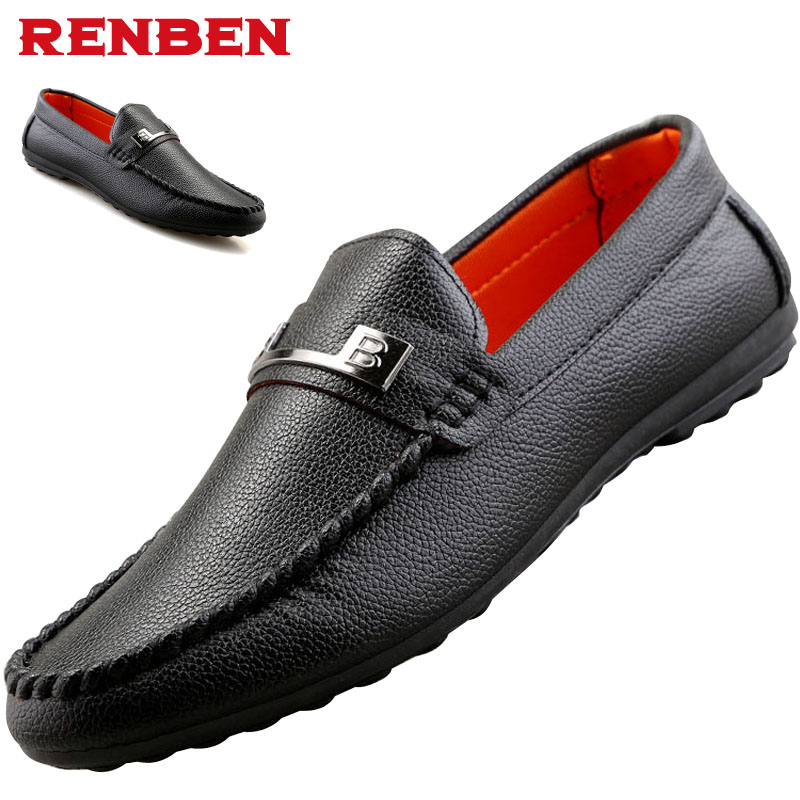 High Quality Genuine Leather Men Shoes Soft Moccasins Loafers Fashion Brand Men Flats Comfy Driving Shoes mapleliz brand breathable slip on solid moccasins shoes for men full grain leather high quality driving soft flat men shoes