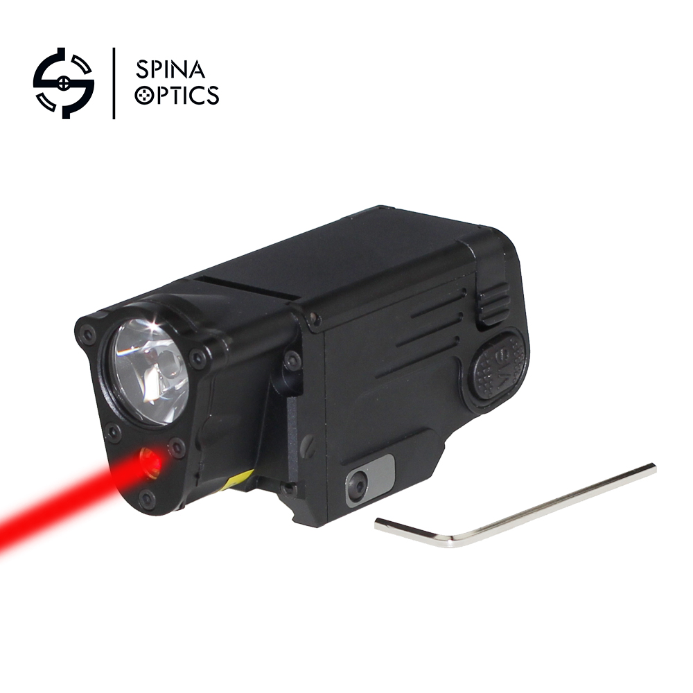 все цены на SPINA OPTICS Tactical Laser Flashlight SBAL-PL Hunting Weapon Light Combo Red Laser Pistol Constant Strobe Gun Light Rail