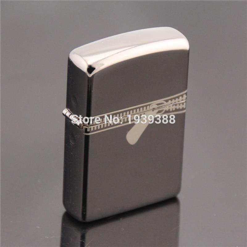 1pc Men Individuality Qriginality black ice blue ice design cigarette Metal Oil Lighter as cigarette accessary for men
