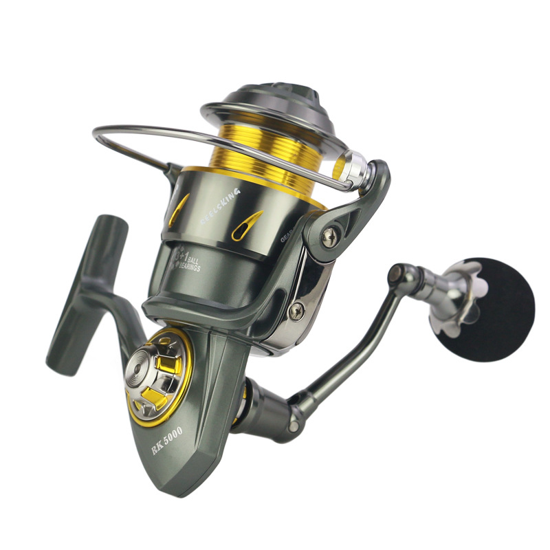 все цены на WOEN All metal Anti-seawater Carbon cloth brakes Fishing reel Stainless steel 13+1BB Spinning wheel RK Series 5000-9000 онлайн