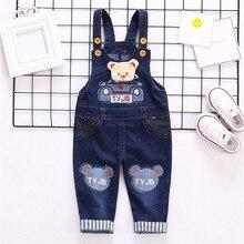 c534a08b219 2019 nette Baby Strampler baby Denim Overall Romper Cartoon Bär Baby  Overalls für Jungen Mädchen Infant Baby Kleidung Jeans Over.
