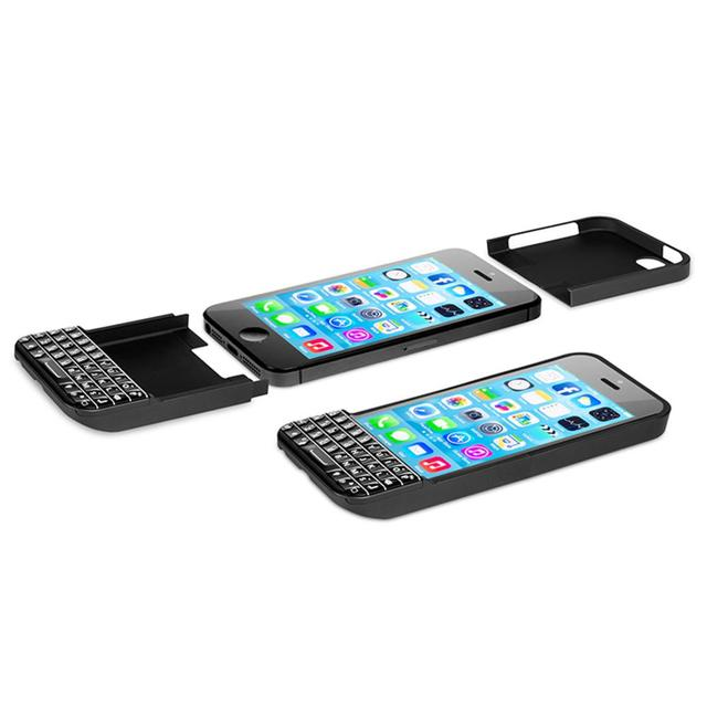 online retailer e2970 42a05 US $102.52 |Typo QWERTY Keyboard Case Bluetooth LED Universal Mini  Bluetooth 3.0 for IOS 6 or Above for iPhone 5 5S Black -in Mobile Phone  Keypads ...