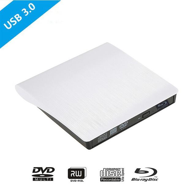 Jogador bluray drive óptico externo usb 3.0 blu-ray bd-rom cd/dvd rw burner escritor gravador portátil para apple macbook laptop