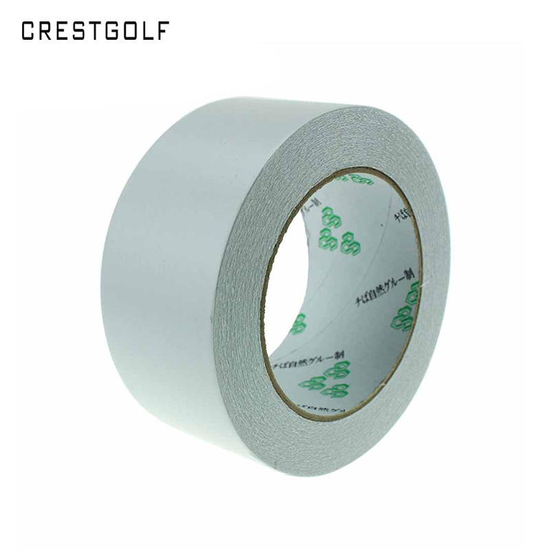 CRESTGOLF Golf Retract Double Side Grip Tape2.36X50Yard Can Install 180pcs Golf Grips Rubber Strips Strong Adhesiveness