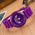 Hojas De hierba de moda deportes reloj de la Marca mujeres hombres reloj de silicona jelly relogio feminino 2016 Nuevo cuarzo reloj de pulsera reloj hombre