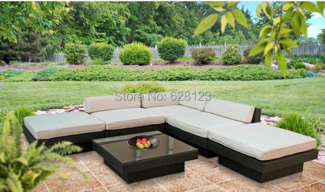 Merveilleux ODSF030 Hot Sale Outdoor Balcony L Shaped Sofa Leisure Villa Outdoor Garden  Courtyard Sitting Room Sofa Sea Beach Hotel In Garden Sofas From Furniture  On ...