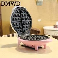 DMWD Electric Waffle Baking Machine Crepe Non Stick Waffle Maker Kitchen DIY Muffin Cake Making Machine