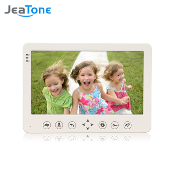smartyiba 7 inch color display work for video intercom speakerphone system lcd tft hand free indoor monitor unit support unlock JeaTone 7 inch TFT LCD Monitor Color Video Door Phone Intercom System Home Security Indoor Camera.