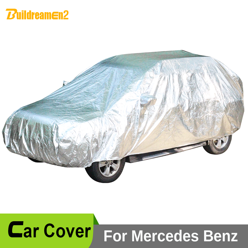 Buildreamen2 New Car Covers Sun Shade Snow Rain Hail Scratch Protection Cover Waterproof For Mercedes-Benz GLS350D GLS400 GLS500 buildreamen2 waterproof car covers sun snow rain hail scratch dust protection cover for mercedes benz gle 350 400 450 300 320
