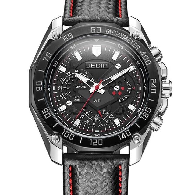 Nouvelles Arrivées d80d3 2d23c € 13.82 89% de réduction 2019 pas cher Sport Marque Quartz montres homme  Top Marque De Luxe Quartz montre bracelet de montre cuir montre bracelet  pour ...