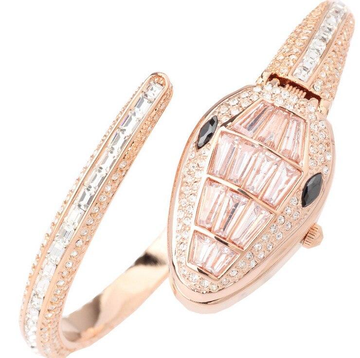เย็นงูนาฬิกาเดิมเมลิสสาที่มีคุณภาพสูงRhinestoneผู้หญิงพรรคชุดนาฬิกาข้อมือควอทซ์Relogios 3ATM M Ontre F Emme F8068-ใน นาฬิกาข้อมือสตรี จาก นาฬิกาข้อมือ บน   3