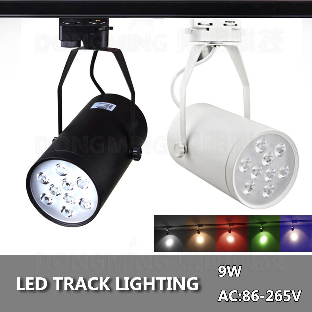 track lighting cheap. led track light 9w commercial rail lamp black white body high quality decorative supermakret store flexible lighting cheap t