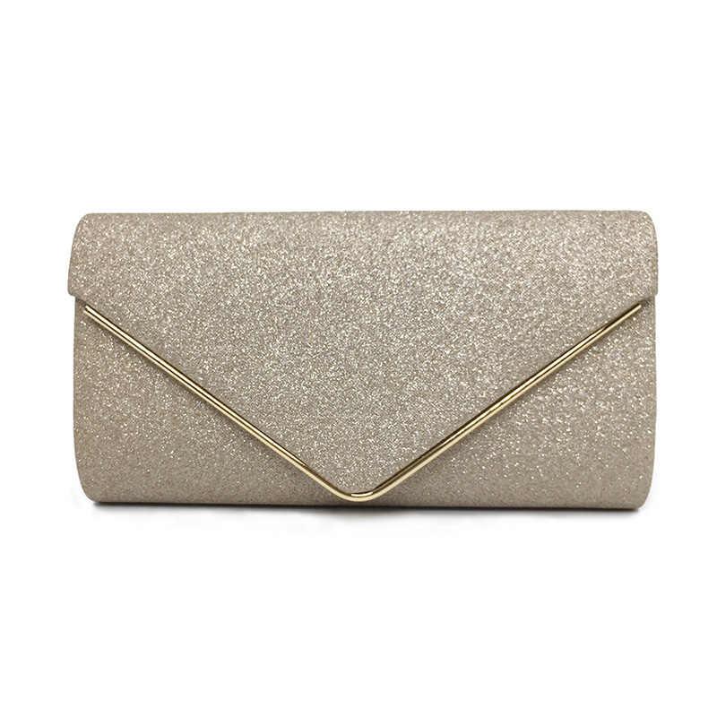 38ff8fe105b5 ... 2019 Роскошные блестящие женские сумки конверт клатч модные блестящие  женские свадебные сумки Bolsas винтажные вечерние сумки ...
