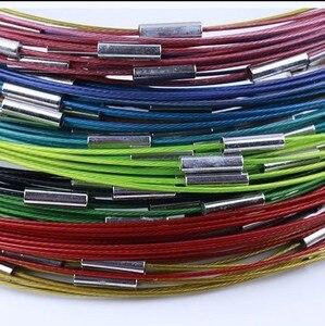 Модное ожерелье из медной проволоки с памятью, 1 мм, 18 дюймов, стальной шнур с магнитной застежкой