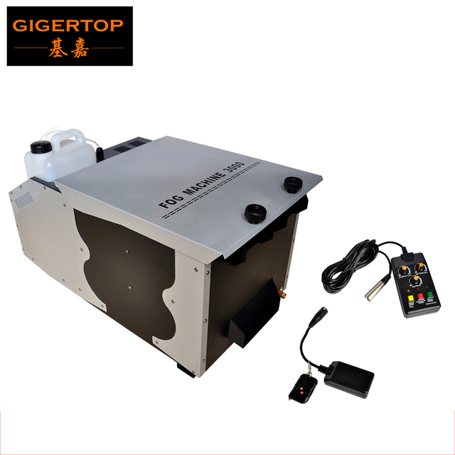 TIPTOP 1500W/3000W DMX Ground Low Fog Machine Stage Effect Machine Output 40000cuft/min Oil Tank Capacity 2.5L Wireless Remote
