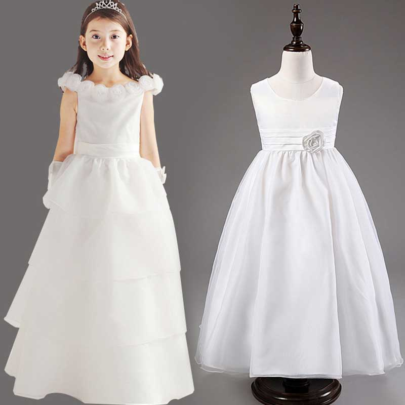 ФОТО girls clothes flower girls dresses summer 2017 long voile party evening wedding princess dress kids dresses girls kids clothes