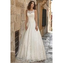 2019 Simple Wedding Dresses Lace Appliques Court Train Scoop Wedding Dress Custom Made Country Bridal Gown physics made simple