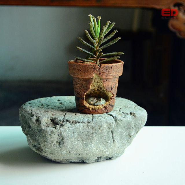 Everyday Collection Miniature Garden Ornament Lover Mice Decorative Garden Pots Red Clay Flower Pots Bonsai Outdoor Decoration