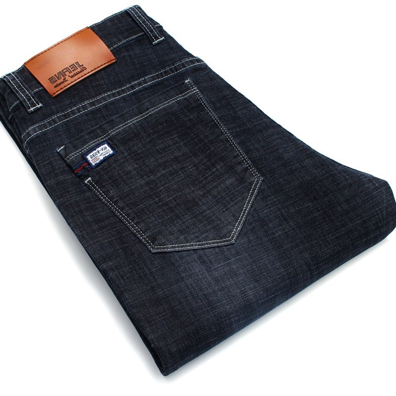 NEW Classic Jeans For Men Skinny stretch jean homme Brand Big Size Straight Homme Jean Pants Black Jeans Size 40 42 44 46