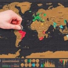 Мини-черный Deluxe Travel Scrape World Map плакат путешественник отпуск журнал подарок персональный путешествия отпуск карта 82,5×59,5 см