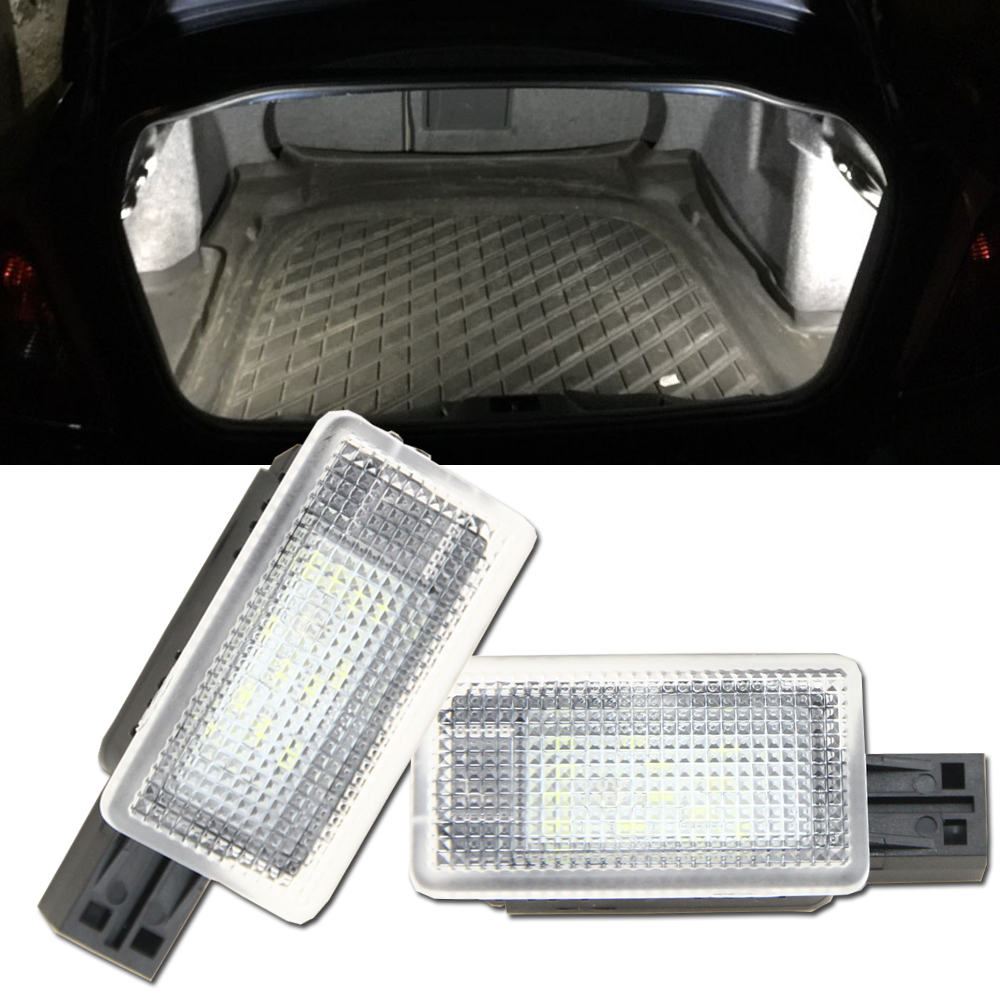 2x Error Free LED Luggage trunk boot lights for Volvo C70 V50 S60 S60L V40 S80 S80L V60 XC60 XC90 18SMD Led Compartment Light for volkswagen passat b6 b7 b8 led interior boot trunk luggage compartment light bulb