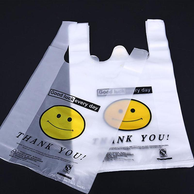 50pcs/pack 20x32cm Carry Out Bags Retail Supermarket Grocery Shopping Plastic Bags With Handle Food Packaging 50pcs/pack 20x32cm Carry Out Bags Retail Supermarket Grocery Shopping Plastic Bags With Handle Food Packaging