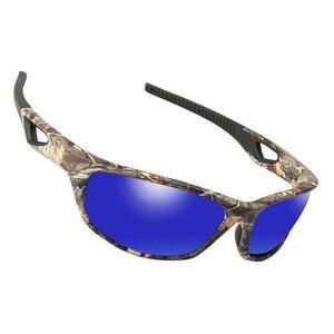 2018 جديد الاستقطاب النظارات الشمسية الرجال TR90 كامو إطار الذكور بولارويد نظارات شمسية التمويه الصيد الصيد نظارات