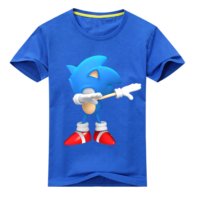 Kids Summer Cartoon Sonic The Hedgehog Tees Tops Costume Boy 3D Dab T-shirt Girls Tshirt Clothes Children Clothing T Shirt DX101 new hot sale 2016 korean style boy autumn and spring baby boy short sleeve t shirt children fashion tees t shirt ages