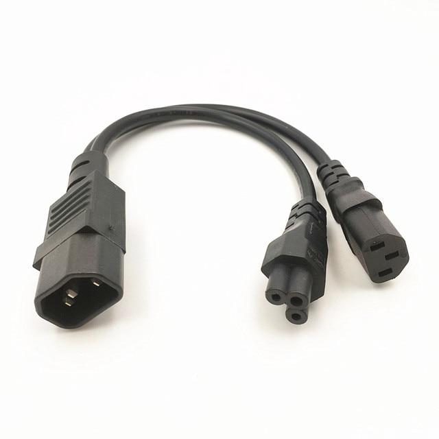 Y Type Splitter Power Cord  Iec320 C14 Plug 3 Prong Male