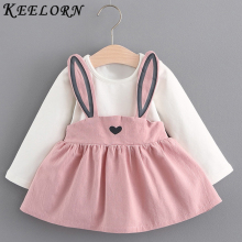 Keelorn Baby Girls Dress 2019 Fashion Party Bow Kitten Face