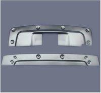 Aluminium Alloy Front + Rear Bumper Protector Skid Plate Guard Car Accessories Fit For CRV 2010 2011 2Pcs