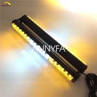 CYAN SOIL BAY 18 36 LED 108W Double Side Emergency Warning Beacon Strobe Light Bar Amber