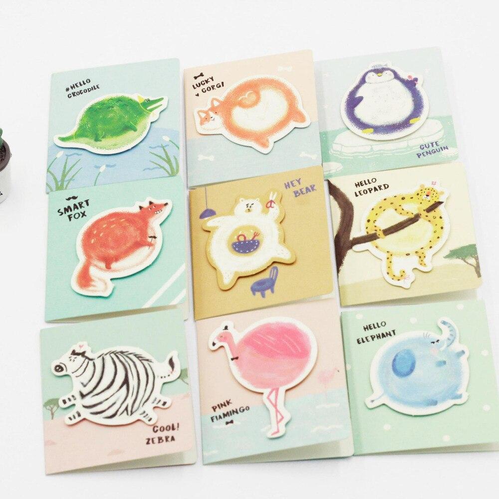 M28 Kawaii Round Fat Animals Hard Paper Greeting Card Envelope