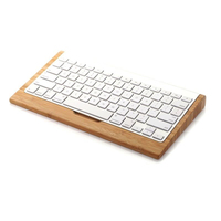 SAMDI Bamboo Wooden Stand Wood Keyboard Holder For IMac Computer 1st Apple Bluetooth Wireless Keyboard