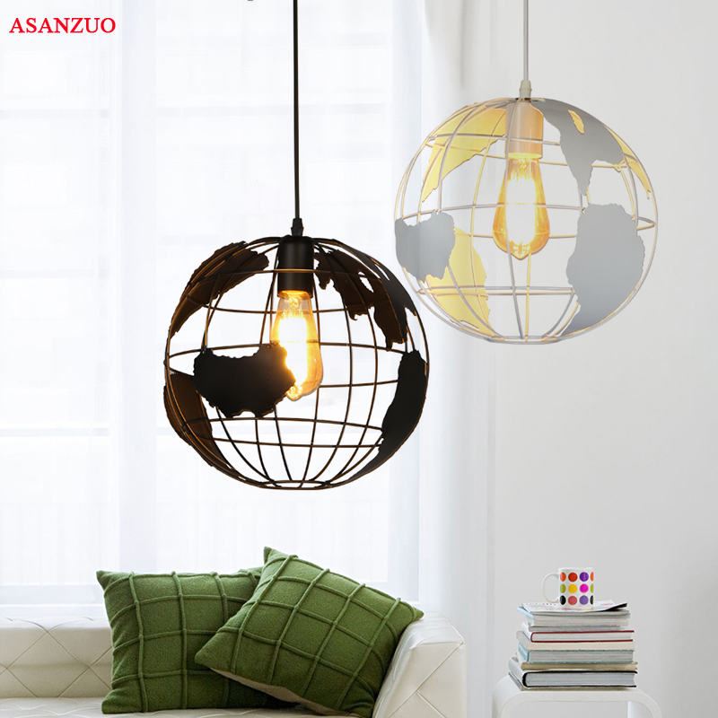 Pendant Lights Black White Lampshade For Kitchen Bar Dining Room Restaurant Coffee Shop Home Decoration Hanging Lamp