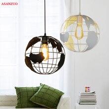 Globe Pendant Lights Black/White Lampshade for Kitchen Bar Dining Room Restaurant Coffee Shop Home Decoration Hanging Lamp  стоимость