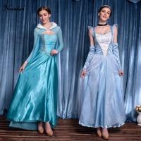 Adult Halloween Cinderella Elsa Princess Dress Princess Elsa Costume Snow Queen Princess Cosplay Halloween Party Costume Women