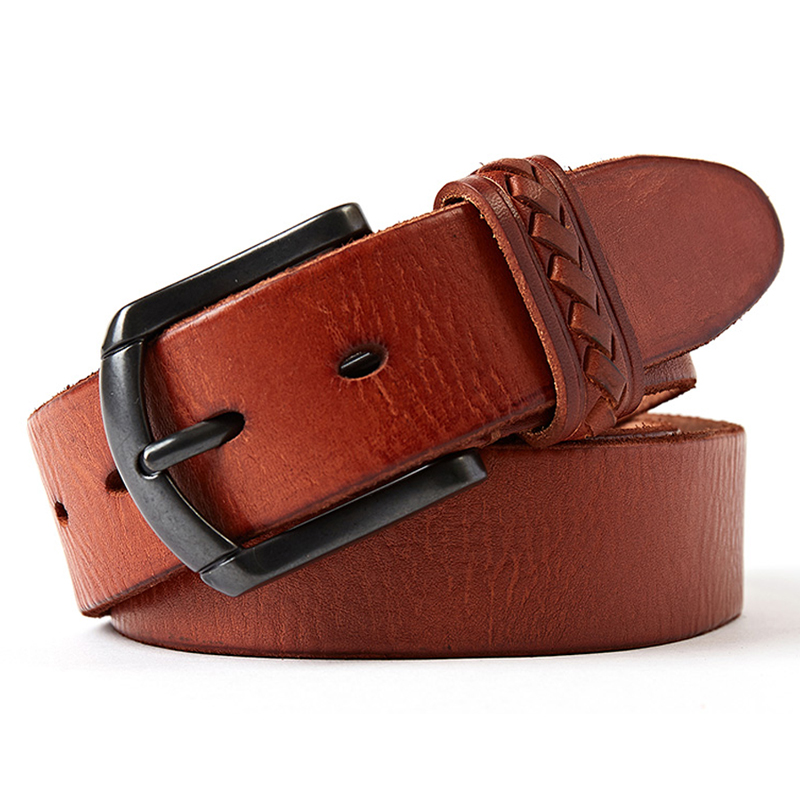 genuine leather belt men luxury designer mens belts brown color jeans buckle strap good quality italy cowhide free shipping