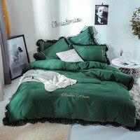 Комплект постельного белья из 4 предметов из тонкого хлопка, Комплект постельного белья для девочек, Комплект постельного белья, удобный по