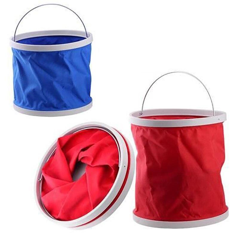 2019 Folding bucket car wash car bucket outdoor portable fishing bucket washing bucket retractable car wash canvas supplies|bucket outdoor|car bucketfolding bucket - title=
