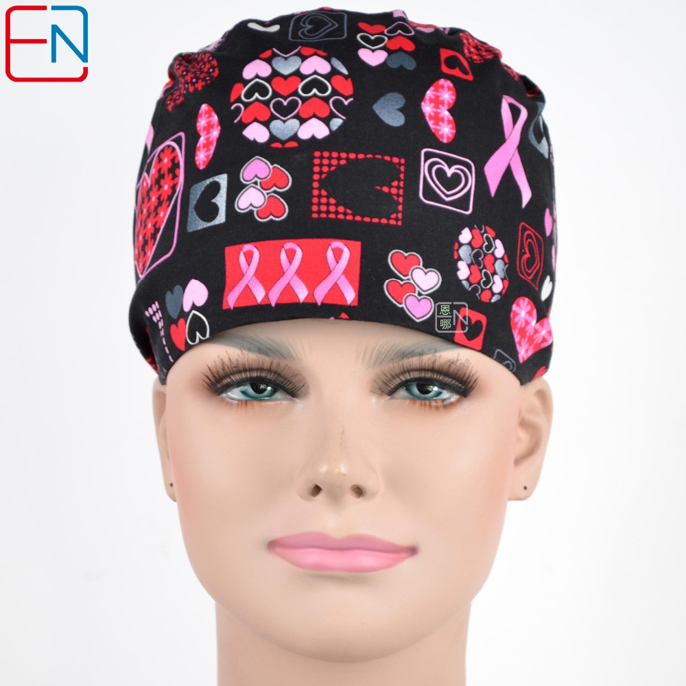 Hennar Unisex MEDICAL CAPS In Black With Ribbons