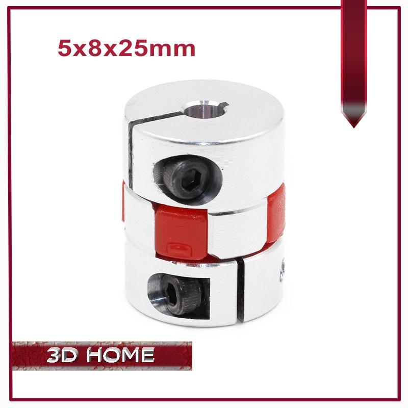 1Pcs 5mm to 8mm Shaft Coupling 5x8mm Flexible Plum Coupler Diameter 20mm length 25mm