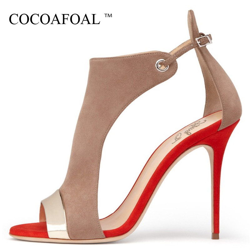 COCOAFOAL Women Party Peep Toe Sandals Red Blue Plus Size 43 44 45 High Heels Wedding Sandals Summer Sexy Open Toe Heels Pumps 2018 fashion women pumps sexy open toe heels sandals woman sandals thick with women shoes high heels s144