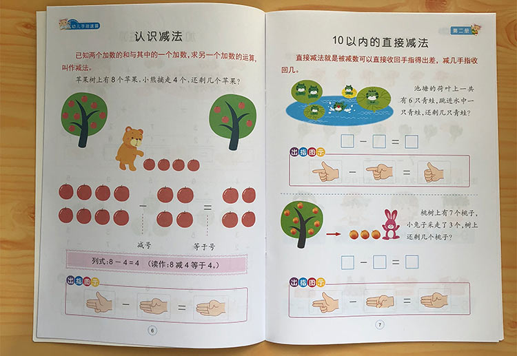 6 PCS A Mathematics Exercise Book For Quick Finger Mental Arithmetic Brain Arithmetic / Enlightenment Intelligence Development