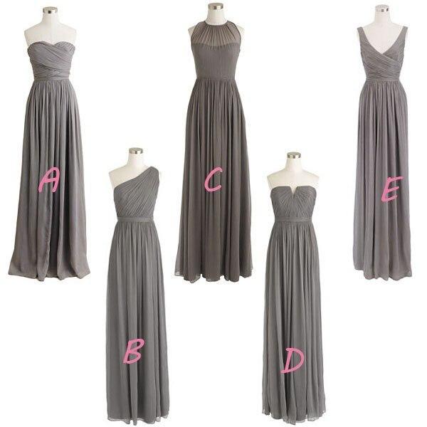 Gray bridesmaid dresses cheap