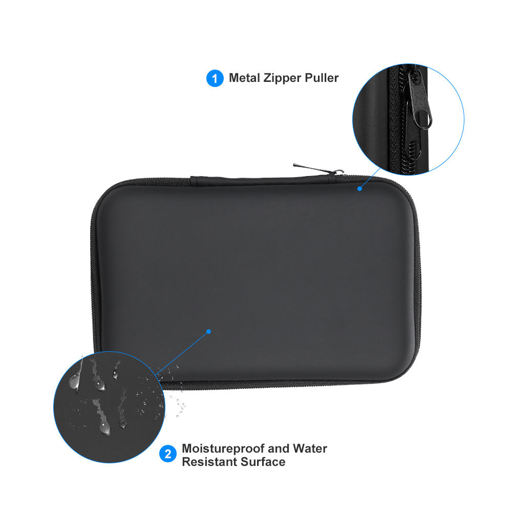Bright 3.5 Inch Eva Shockproof Hard Drive Carrying Case Pouch Bag 3.5 External Hdd Power Bank Cable Hand Carry Travel Case Protect Bag External Storage